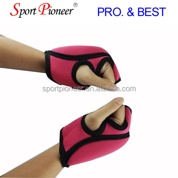 Women weight lifting gloves Leather skeleton gloves gel padding half Ginger weight lifting gloves
