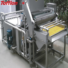 Industrial fruit washing machine for fruit juice processing line