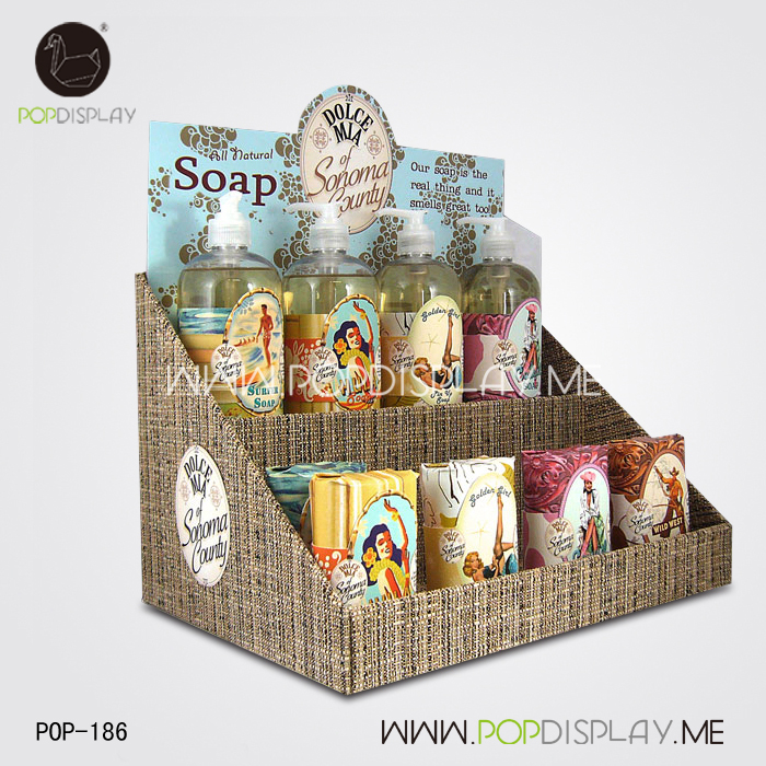 Supermarket Display Rack For Bath Shower, PDQ Display For Body Lotion
