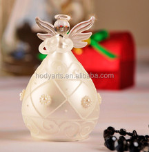 Wholesale New Design and High Quality Decorations and Gifts of Stained Glass Angel in White Color with Pearl