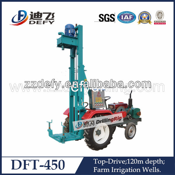 DFT-450 120m tractor type hole digging machine