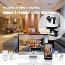 Support 6 languages 3g video call camera alarm GSM/GPRS/WIFI alarm system home security