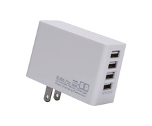 Smallest Portable 4 Ports USB Charger for iPhone