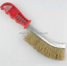 plastic handle cleaning brass wire brush