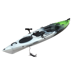 single double fishing canoe kayak with pedals for promotion