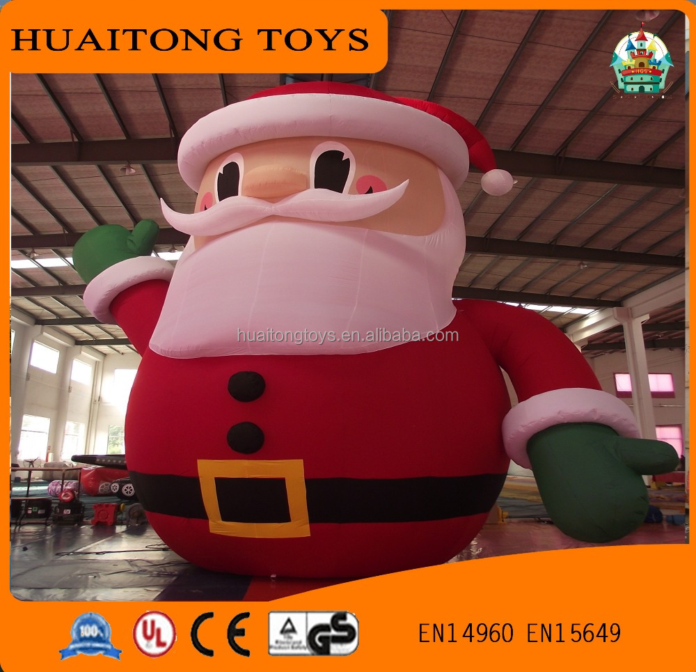 Shanghai hot sale Inflatable Father Christmas cartoon customized