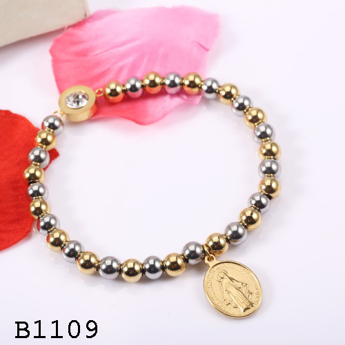 Hot ! Classical style handmade silver gold beads bracelet for christmas gift