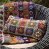 Daisy decorative pillow outdoor chair handmade crochet coccyx seat cushion cover