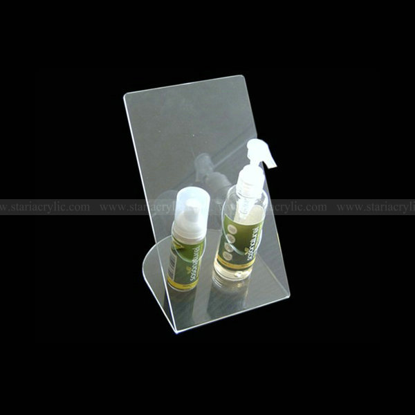 Slant back acrylic hand sanitizer holder,Slanted Clear lucite hand sanitizer stand,angled plexiglass hand sanitizer display rack
