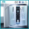 Compact transparent tempered glass walk in tub shower combo shower cabin