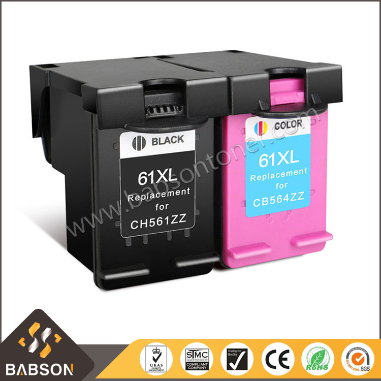 Compatible chip reset to full level ink cartridge for hp 61xl printer ink cartridge