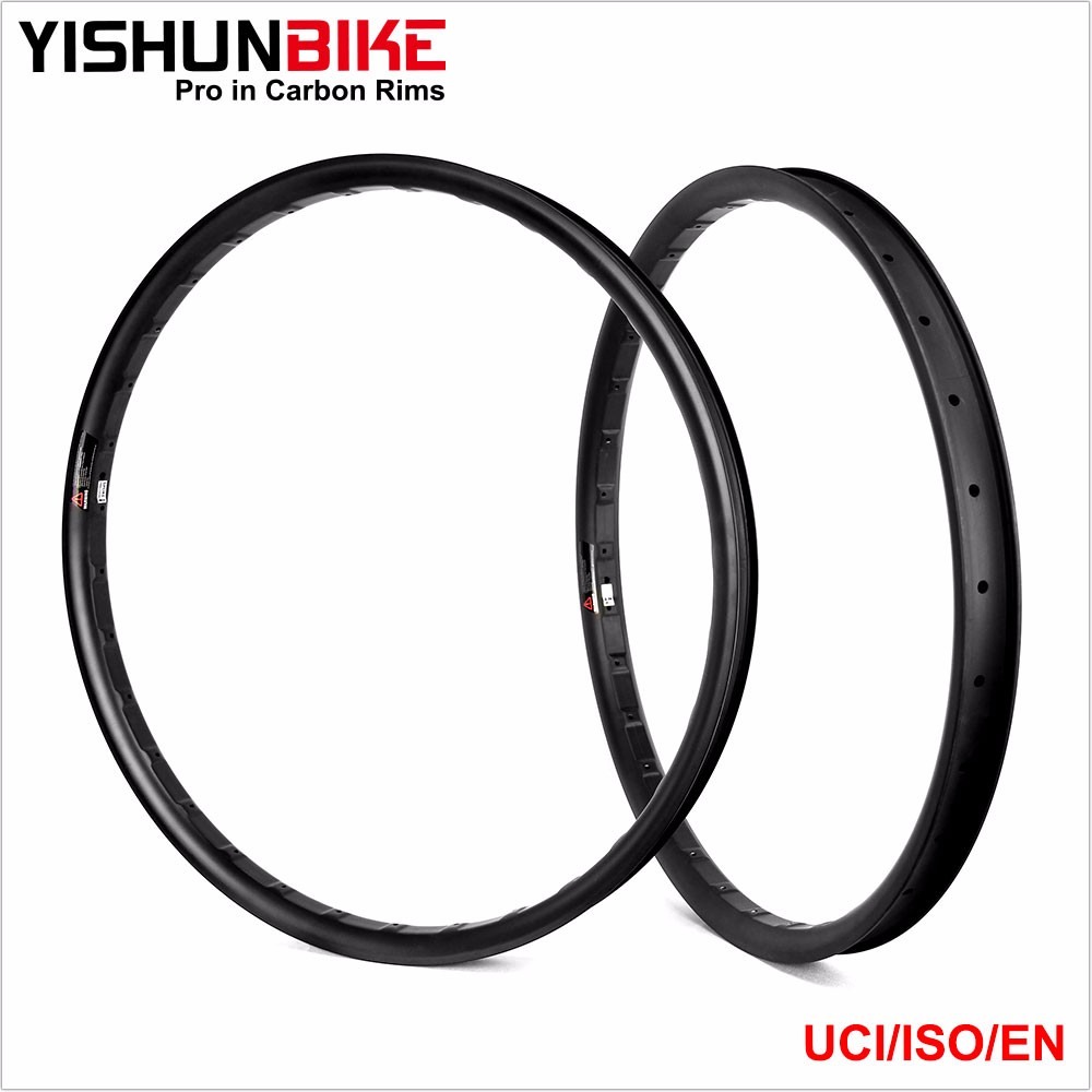 2016 Light Yishunbike Carbon MTB Rims 27.5er plus Hookless Design 42mm width