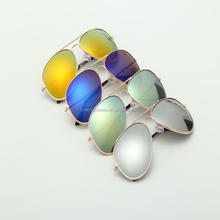 Free Sample Good Quality UV400 Custom Mirror Aviator Sunglasses