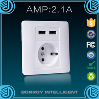 power supply socket panel intelligence security wall outlet usb