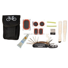 multi-cycle tool set with pouch bicycle repair set with carry pouch