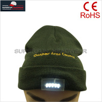 embroidered logo knitted wholesale LED cap