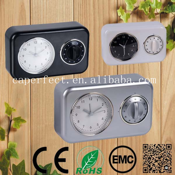 brand name wall or table alarm quartz clock with timer