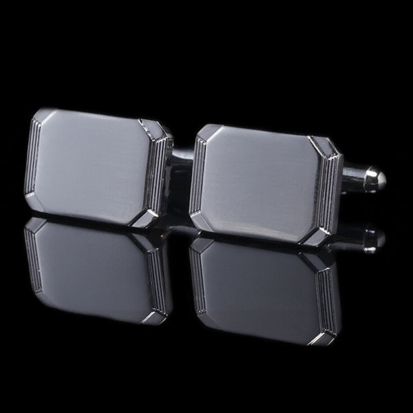 Custom Made Suit Shirt Blank Cufflinks Wholesale Sterling Silver Cufflinks (LR098)