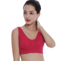 Ladies Fitness Padded Gym Yoga Bra Womens Seamless Sports Bra