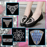 Wholesale fashion rhinestone footwear accessories 2016