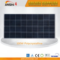 Tempered glass quality-assured solar pv module 100wp