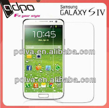 High Quality tempered glass Screen guard For glaxy s4