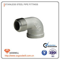stainless steel pipe fitting DIN clamp elbow 45 manufactory CE/ISO