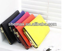 Purse zipper leather case for samsung galaxy note 2