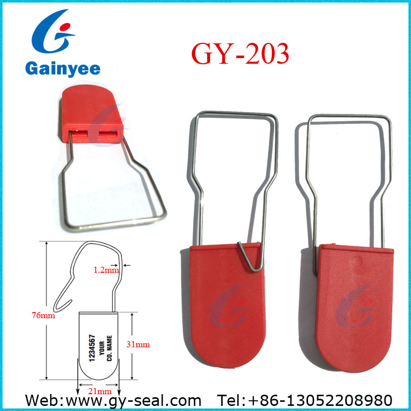 Customs security plastic padlock seal with printing GY203