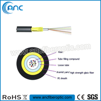 Unitube Non-metallic Micro Cable/Jet 2/6/8/12/24/36/48 Core Fiber Optic Cable
