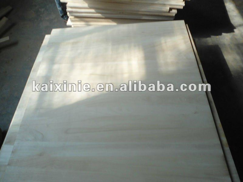 2012 new building construction material--paulownia edge glued panel