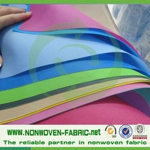 china supplier HIGH quality pp spunbond fabric nonwoven in rolls, colorful non woven fabric for bags