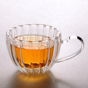 Best Selling Product Handmade Clear Borosilicate Drinking Glass Tea Cup