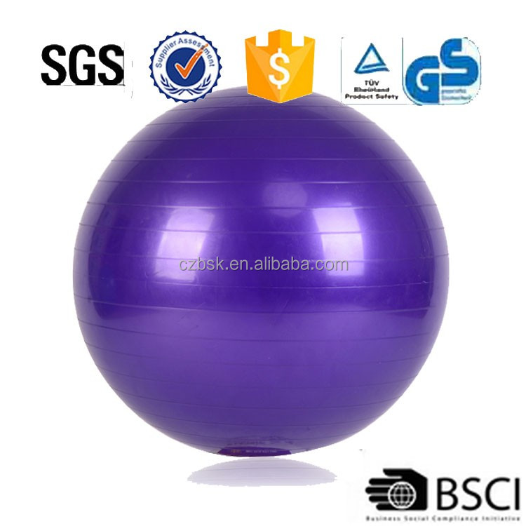 wholesale ecofriendly PVC body building gym ball,body building yoga ball,body building fitness ball