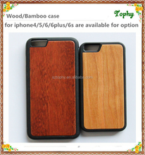 Mobile phone housing for iphone 6 TPU and wood smarphone cover for samsung s6