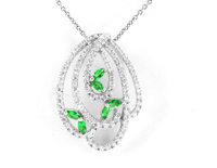 Made in China ladies fashion jewelry natural stone pendants