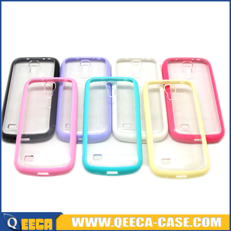 For samsung galaxy s4 mini transparent acrylic back cover for s4 mini cover