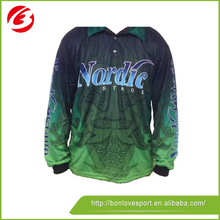 Biggest Factory 2015 Hot New Sublimation Breathable Fishing Shirt/Jersey