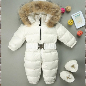 Russia Winter Jumpsuit Kids Winter Snowsuit 18M-3T Baby Rompers Down Jackets Warm Overall Coats Boys Girl Kids Clothes