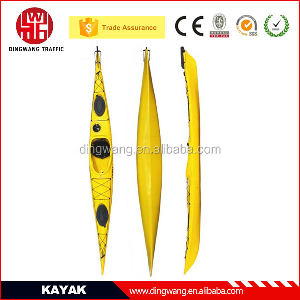 2015 New arrival Plastic Sea Kayak with Pedal inside for Two Person