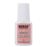 Fast Drying Strong Adhesive Fake Acrylic False Tip Glue Manicure Decoration Waterproof Nail Glue With Brush