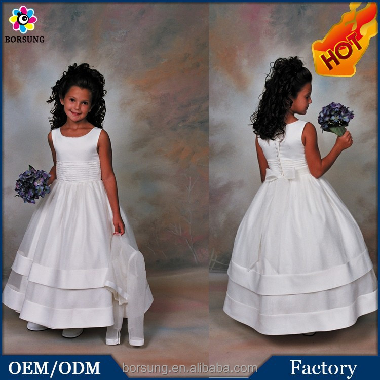 Children Girl Dress With 2015 Summer Latest Flower Girl Dress with Long Sleeve Organza Jacket