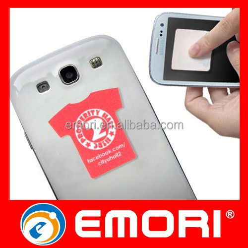 Top quality custom print cellphone self adhesive screen cleaner