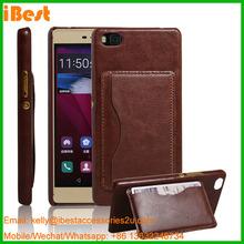 premium sublimation phone standing cases blanks leather pc phone cases for huawei P8