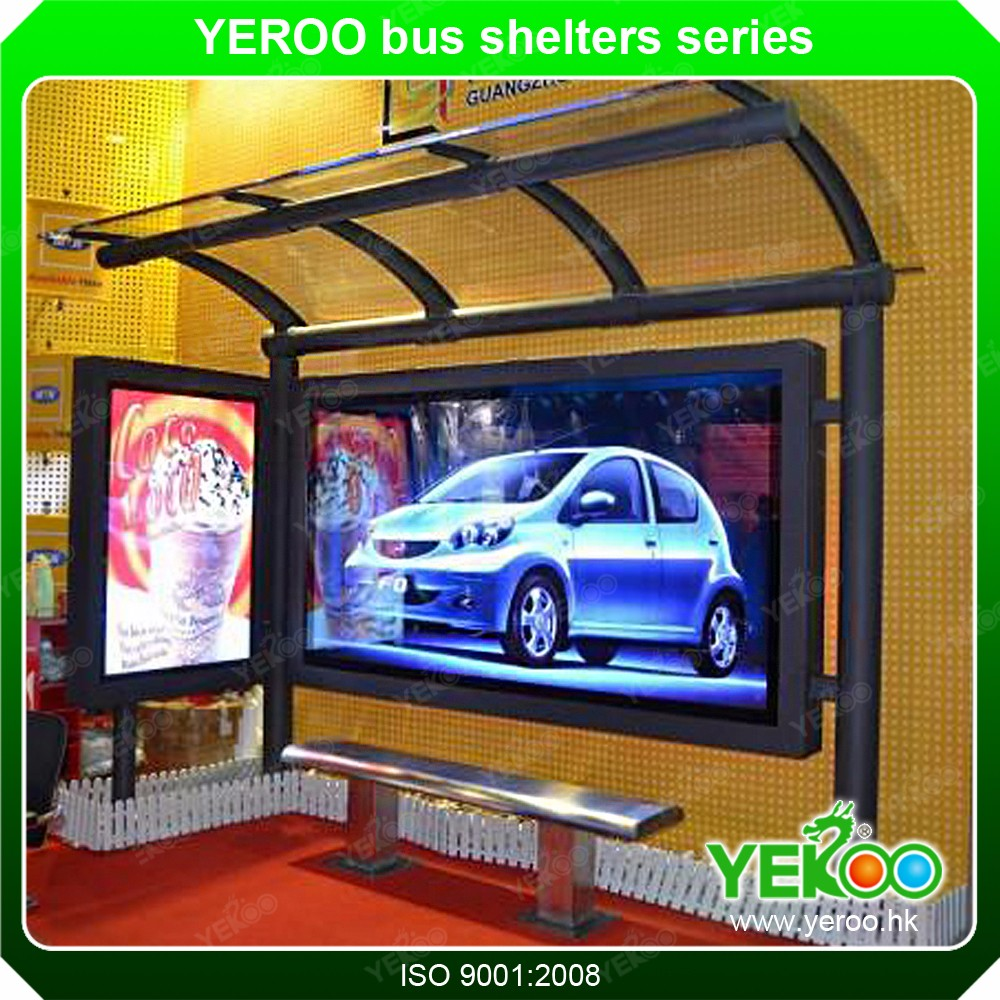 Modern concise outdoor bus shelters rain shelter in standing kiosk