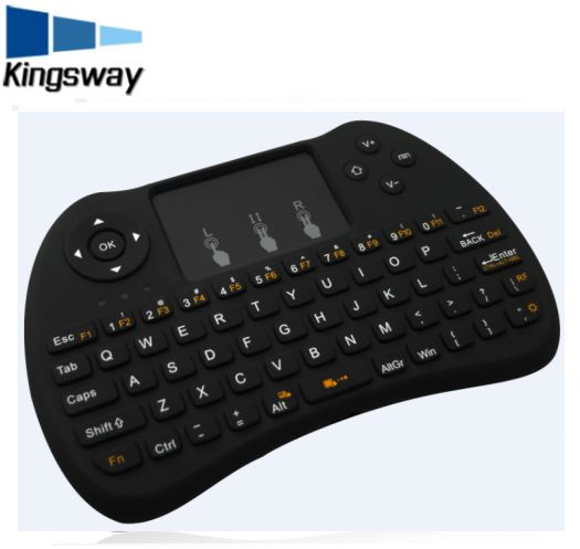 New 2.4GHz Wireless Backlight H9 Fly Air Mouse Mini Keyboard With Touch Pad Remote Control Gamepad