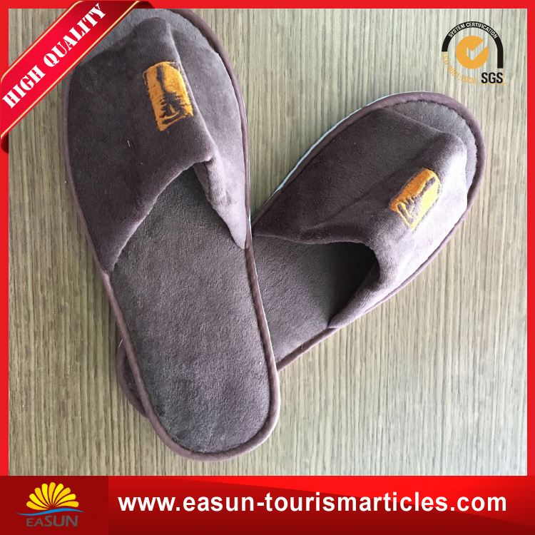Cheap price wholesale terry cloth slippers delta airline slippers disposable terry slippers