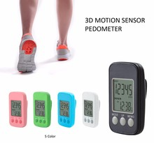 Amazon Best Sale Digital Walking 3D Pedometer With Clip And Strap