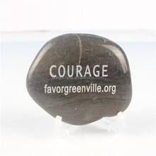 customized wholesale river rock with your own logo