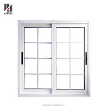 Latest philippines modern window grill designs aluminium frame sliding glass window price